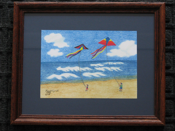 "Title: ""Flying Kites With Dad""  <br /> Signed And Numbered Print<br /> Size: 8x10<br /> Price: $29 plus Tax-S&H<br /> Email Your Order: JanetLynchArt@gmail.com"