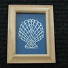 "Title: ""Seashell 2"" - Framed Hand Cut Parchment - Janet's Original Design<br /> Size: 5x7<br /> Price:$25 Plus Tax -S&H<br /> Email Your Order: JanetLynchArt@gmail.com"