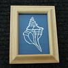 "Title: ""Seashell"" - Framed Hand Cut Parchment - Janet's Original Design<br /> Size: 5x7<br /> Price:$25  Plus Tax -S&H<br /> Email Your Order: JanetLynchArt@gmail.com"