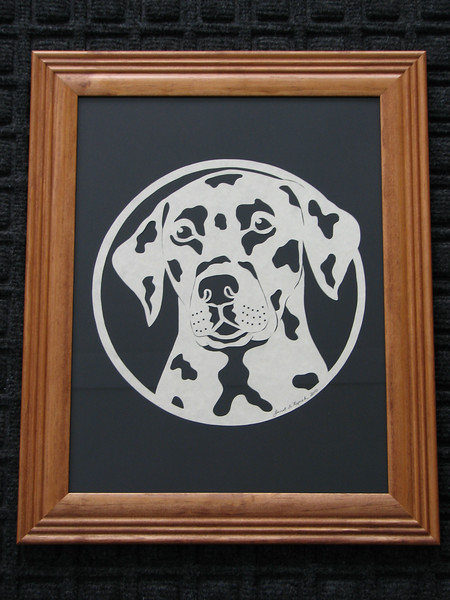 "Title: ""Dalmation"" - Framed Hand Cut Parchment (Your Breed Available - Prices/Sizes Vary)<br /> Size: 10x13<br /> Price:$39 Plus Tax -S&H<br /> <br /> Buy This Item: <a href=""http://www.etsy.com/listing/42850942/dalmation-10x13-framed-scherenschnitte"">http://www.etsy.com/listing/42850942/dalmation-10x13-framed-scherenschnitte</a><br /> <br /> ~This paper cutting and all Scherenschnitte Art listed in my shop available as a beautiful print NoteCard. $3.95 ea or $2.95 ea if you order 10 mix or match <a href=""http://www.etsy.com/listing/71810088/note-cards-5x7-choose-any-photo-or-paper"">http://www.etsy.com/listing/71810088/note-cards-5x7-choose-any-photo-or-paper</a><br /> <br /> <br /> ~THIS ITEM SHIPS FREE IN US AND CANADA IF SHIPPED WITH ANY OTHER PURCHASE<br /> <br /> ~Have a special size or request? Just CLICK CONTACT AT THE BOTTOM and we'll see what we can work out.<br /> <br /> <br /> All images are copyright protected and the exclusive property of Janet Lynch and may not be used without permission."
