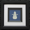 """Title: """"Snowman"""" -Framed Hand Cut Parchment <br /> Janet's Original Design <br /> Size: 6x6<br /> Price: $10 Plus Tax -S&H<br /> Email Your Order: JanetLynchArt@gmail.com"""