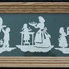 "Title: ""Christmas Time Heirloom Silhouettes"" - Framed Hand Cut Parchment <br /> Size: 6x15<br /> Price:$45 Plus Tax -S&H<br /> Buy This Item: <a href=""http://www.etsy.com/listing/86877617/christmas-framed-scherenschnitte"">http://www.etsy.com/listing/86877617/christmas-framed-scherenschnitte</a><br /> JanetLynchArt@gmail.com"