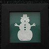 "Title: ""Snowman"" - Framed Hand Cut Parchment - Janet's Original Design<br /> Size: 3x3<br /> Price:$6 Plus Tax -S&H<br /> Email Your Order: JanetLynchArt@gmail.com"