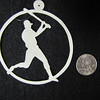 "Title: ""Sports"" - Most Sports Available - Hand Cut Parchment<br /> Price: $6<br /> This item ships free in U.S. and Canada when shipped with an equal or lesser item<br /> <br /> ~ Scherenschnitte (hand paper cutting) Christmas Ornament<br /> Signed and dated by Janet Lynch<br /> <br /> ~ All Christmas ornaments can be personalized with names in Calligraphy<br /> Water Mark will not appear on your art order<br /> <br /> ~Want this as a print on a 5x7 Note Card? <a href=""http://www.etsy.com/listing/71810088/note-cards-5x7-choose-any-photo-or-paper"">http://www.etsy.com/listing/71810088/note-cards-5x7-choose-any-photo-or-paper</a><br /> <br /> ~ Want this as a print on a jewelry pendant? <a href=""http://www.etsy.com/listing/74448914/cape-hatteras-lighthouse-fine-art"">http://www.etsy.com/listing/74448914/cape-hatteras-lighthouse-fine-art</a><br /> <br /> ~ Special Custom requests welcome.....just email me and I will do my best to work with you. If you have a theme or particular interest I am sure I have a design for you......or I will design one just for you.<br /> <br /> ~Visit our shop to see all my hand cut Scherenschnitte Art, Fine Art Photography, Prints, Christmas Ornaments, Bookmarks, Note Cards, Photo Pendants, Jewelry:<br /> <a href=""http://artgalleryriverrd.etsy.com"">http://artgalleryriverrd.etsy.com</a>"
