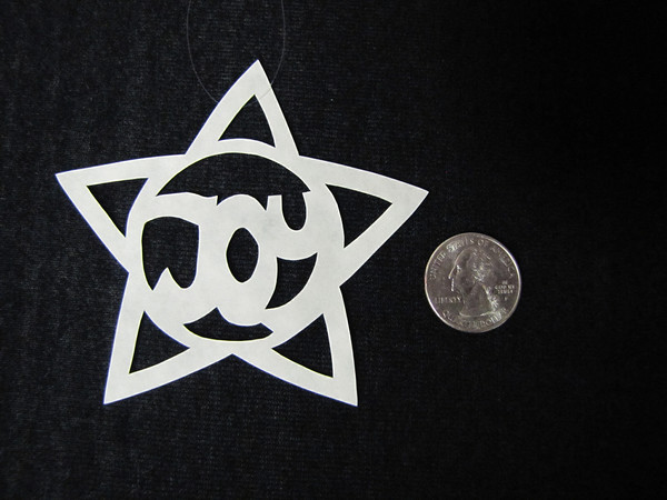 """Title: """"Joy Star """" - Hand Cut Parchment<br /> Price: $6<br /> This item ships free in U.S. and Canada when shipped with an equal or lesser item<br /> <br /> ~ Scherenschnitte (hand paper cutting) Christmas Ornament<br /> Signed and dated by Janet Lynch<br /> <br /> ~ All Christmas ornaments can be personalized with names in Calligraphy<br /> Water Mark will not appear on your art order<br /> <br /> ~Want this as a print on a 5x7 Note Card? <a href=""""http://www.etsy.com/listing/71810088/note-cards-5x7-choose-any-photo-or-paper"""">http://www.etsy.com/listing/71810088/note-cards-5x7-choose-any-photo-or-paper</a><br /> <br /> ~ Want this as a print on a jewelry pendant? <a href=""""http://www.etsy.com/listing/74448914/cape-hatteras-lighthouse-fine-art"""">http://www.etsy.com/listing/74448914/cape-hatteras-lighthouse-fine-art</a><br /> <br /> ~ Special Custom requests welcome.....just email me and I will do my best to work with you. If you have a theme or particular interest I am sure I have a design for you......or I will design one just for you.<br /> <br /> ~Visit our shop to see all my hand cut Scherenschnitte Art, Fine Art Photography, Prints, Christmas Ornaments, Bookmarks, Note Cards, Photo Pendants, Jewelry:<br /> <a href=""""http://artgalleryriverrd.etsy.com"""">http://artgalleryriverrd.etsy.com</a>"""