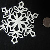 Christmas Ornaments - Snow Flake - Scherenschnitte - Hand Paper Cutting Art signed and dated By Janet Lynch $12.00