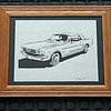 """Title: """"Mustang"""" -Framed Hand Cut Parchment  <br /> Size: 10x13<br /> Price: $49 Plus Tax -S&H<br /> Buy This Item: <a href=""""http://www.etsy.com/listing/88574806/ford-mustang-scherenschnitte-hand-paper"""">http://www.etsy.com/listing/88574806/ford-mustang-scherenschnitte-hand-paper</a><br /> <br /> <br /> Title: """" Mustang """" - Framed Hand Cut Parchment<br /> Size: 10x13<br /> Difficulty 5 of 10<br /> <br /> Scherenschnitte (hand paper cutting)<br /> Signed and dated by Janet Lynch framed<br /> Water Mark will not appear on your art order<br /> <br /> ~Want this as a print on a 5x7 Note Card? <a href=""""http://www.etsy.com/listing/71810088/note-cards-5x7-choose-any-photo-or-paper"""">http://www.etsy.com/listing/71810088/note-cards-5x7-choose-any-photo-or-paper</a><br /> <br /> ~ Want this as a print on a jewelry pendant? <a href=""""http://www.etsy.com/listing/74448914/cape-hatteras-lighthouse-fine-art"""">http://www.etsy.com/listing/74448914/cape-hatteras-lighthouse-fine-art</a><br /> <br /> ~ Special Custom requests welcome.....just email me and I will do my best to work with you. If you have a theme or particular interest I am sure I have a design for you......or I will design one just for you.  Email : JanetLynchArt@gmail.com<br /> <br /> ~Frames may vary slightly depending on available stock"""