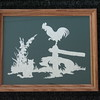 "Title: ""Farm Yard Pals"" - Framed Hand Cut Parchment <br /> Size: 8x10<br /> Price:$39 Plus Tax -S&H<br /> Email Your Order: JanetLynchArt@gmail.com"