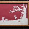"""Title: """"Boy And Girl Picking Apples"""" - Framed Hand Cut Parchment <br /> Size: 8.5x11<br /> Price:$49  Plus Tax -S&H<br /> Email Your Order: JanetLynchArt@gmail.com"""