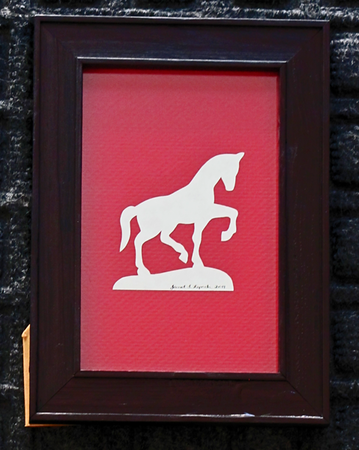 "Title: "" Horse "" - Framed Hand Cut Parchment<br /> Size: 4x6<br /> Difficulty 2 of 10<br /> Price: $7.00<br /> <br /> Buy This Item: <a href=""http://www.etsy.com/listing/86284050/horse-scherenschnitte-hand-paper-cutting?ref=v1_other_2"">http://www.etsy.com/listing/86284050/horse-scherenschnitte-hand-paper-cutting?ref=v1_other_2</a><br /> <br /> Scherenschnitte (hand paper cutting)<br /> Signed and dated by Janet Lynch framed 4x6<br /> Water Mark will not appear on your art order<br /> <br /> ~Want this as a print on a 5x7 Note Card? <a href=""http://www.etsy.com/listing/71810088/note-cards-5x7-choose-any-photo-or-paper"">http://www.etsy.com/listing/71810088/note-cards-5x7-choose-any-photo-or-paper</a><br /> <br /> ~ Want this as a print on a jewelry pendant? <a href=""http://www.etsy.com/listing/74448914/cape-hatteras-lighthouse-fine-art"">http://www.etsy.com/listing/74448914/cape-hatteras-lighthouse-fine-art</a><br /> <br /> ~ Special Custom requests welcome.....just CLICK CONTACT AT THE BOTTOM and I will do my best to work with you. If you have a theme or particular interest I am sure I have a design for you......or I will design one just for you."