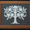 "Title: ""Family Tree"" -Framed Hand Cut Parchment (Names In Handwritten Calligraphy - Also Available With Apples)<br /> Size: 11x14<br /> Price: $49<br /> Email Your Order: JanetLynchArt@gmail.com"