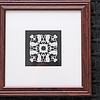 """Title: """"Alex's Cats"""" - Quilt Pattern<br /> Framed Hand Cut Parchment <br /> Size: 10x10<br /> Difficulty 4 out of 10<br /> Price:$39 Plus Tax -S&H<br /> Email Your Order: JanetLynchArt@gmail.com"""