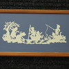 "Title: "" Summer Time ""  - Framed Hand Cut Parchment<br /> Size: 6x11<br /> Difficulty 7 of 10<br /> Price: $39<br /> Buy This Item : <a href=""http://www.etsy.com/listing/88574301/summer-time-scherenschnitte-hand-paper"">http://www.etsy.com/listing/88574301/summer-time-scherenschnitte-hand-paper</a><br /> <br /> Scherenschnitte (hand paper cutting)<br /> Signed and dated by Janet Lynch framed<br /> Water Mark will not appear on your art order<br /> <br /> ~Want this as a print on a 5x7 Note Card? <a href=""http://www.etsy.com/listing/71810088/note-cards-5x7-choose-any-photo-or-paper"">http://www.etsy.com/listing/71810088/note-cards-5x7-choose-any-photo-or-paper</a><br /> <br /> ~ Want this as a print on a jewelry pendant? <a href=""http://www.etsy.com/listing/74448914/cape-hatteras-lighthouse-fine-art"">http://www.etsy.com/listing/74448914/cape-hatteras-lighthouse-fine-art</a><br /> <br /> ~ Special Custom requests welcome.....just email me and I will do my best to work with you. If you have a theme or particular interest I am sure I have a design  for you......or I will design one just for you.  Email : JanetLynchArt@gmail.com"