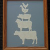 "Title: ""Animal Stack"" - Framed Hand Cut Parchment <br /> Size: 8x10<br /> Price:$20 Plus Tax -S&H<br /> Email Your Order: JanetLynchArt@gmail.com"