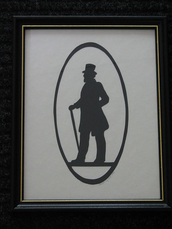 "Title: ""Victorian Silhouette-Gentleman"" -Framed Hand Cut Black Paper <br /> Size: 8.5x11<br /> Price: Price: $29 - or- $49 for the set of 2<br /> Email Your Order: JanetLynchArt@gmail.com"