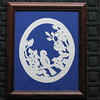 "Title: ""Blue Bird In Dogwood"" - Framed Hand Cut Parchment <br /> Size: 8x10<br /> Price:$29  Plus Tax -S&H<br /> Email Your Order: JanetLynchArt@gmail.com"