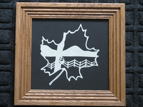 "Title: ""Maple Harvest"" - Framed Hand Cut Parchment <br /> Size: 6.5x7<br /> Price:$29  Plus Tax -S&H<br /> Email Your Order: JanetLynchArt@gmail.com"