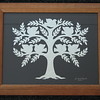 "Title: ""Family Tree"" -Framed Hand Cut Parchment (Names In Handwritten Calligraphy - Also Available With Apples)<br /> Size: 11x14<br /> Price: Starting At $49 plus tax S&H<br /> Email Your Order: JanetLynchArt@gmail.com"