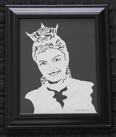Finished Scherenschnitte Portrait -Hand Cut Parchment <br /> Prices Begin At $99 For One Subject $135 For Multiple Subjects<br /> Email your family photo to Janet Lynch For Pricing : ArtGalleryRiverRd@gmail.com