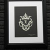 "Title: ""Family Crest"" - Framed Hand Cut Parchment <br /> Size: 8x10<br /> Price:$25  Plus Tax -S&H<br /> Email Your Order: JanetLynchArt@gmail.com"