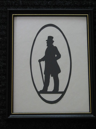 """Title: """"Victorian Silhouette-Gentleman"""" -Framed Hand Cut Black Paper  Size: 8.5x11 Price: $29 - or- $49 for the set of 2 Email Your Order: JanetLynchArt@gmail.com"""