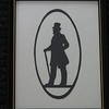 "Title: ""Victorian Silhouette-Gentleman"" -Framed Hand Cut Black Paper <br /> Size: 8.5x11<br /> Price: $29 - or- $49 for the set of 2<br /> Email Your Order: JanetLynchArt@gmail.com"