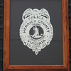 "Title: ""Policeman's Badge"" - Hand Cut Parchment - By Janet Lynch<br /> Size: 8x10<br /> Price:$79 Plus Tax -S&H<br /> Email Janet Lynch Your Order: ArtGalleryRiverRd@gmail.com"