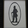 "Title: ""Victorian Silhouette-Gentleman"" -Framed Hand Cut Black Paper <br /> Size: 8.5x11<br /> Price: Price: $29 - or- $49 for the set of 2 <br /> Email Your Order: JanetLynchArt@gmail.com"