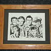 "Title: ""Andy Griffith Cast "" - Framed Hand Cut Parchment <br /> Size: 11x14<br /> Price:$135 Plus Tax -S&H<br /> Email Your Order: JanetLynchArt@gmail.com"