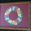 "Title: ""'Ring Of Fruit - Colored Pastels "" - Framed Hand Cut Parchment <br /> Size: 10x13<br /> Price:$49 Plus Tax -S&H<br /> Email Your Order: JanetLynchArt@gmail.com"