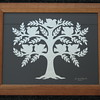 """Title: """"Family Tree"""" -Framed Hand Cut Parchment (Names In Handwritten Calligraphy - Also Available With Apples)<br /> Size: 10x13<br /> Price: $49<br /> Email Your Order: JanetLynchArt@gmail.com"""