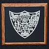 "Title: ""Serve and Protect""  Policmans Plaque - Framed Hand Cut Parchment<br /> Size: 12x12<br /> Difficulty 7 of 10<br /> Price: $79 plus vA tax and Shipping<br /> Buy This Item <a href=""http://www.etsy.com/listing/76809150/serve-and-protect-policemans-plaque"">http://www.etsy.com/listing/76809150/serve-and-protect-policemans-plaque</a><br /> <br /> Scherenschnitte (hand paper cutting)<br /> Signed and dated by Janet Lynch framed 14x14<br /> Water Mark will not appear on your art order<br /> <br /> ~Want this as a print on a 5x7 Note Card? <a href=""http://www.etsy.com/listing/71810088/note-cards-5x7-choose-any-photo-or-paper"">http://www.etsy.com/listing/71810088/note-cards-5x7-choose-any-photo-or-paper</a><br /> <br /> ~ Want this as a print on a jewelry pendant? <a href=""http://www.etsy.com/listing/74448914/cape-hatteras-lighthouse-fine-art"">http://www.etsy.com/listing/74448914/cape-hatteras-lighthouse-fine-art</a><br /> <br /> ~Frames may vary depending on available stock<br /> <br /> ~ Special Custom requests welcome.....CLICK CONTACT AT THE BOTTOM and I will do my best to work with you. If you have a theme or particular interest I am sure I have a design for you......or I will design one just for you."