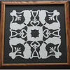 "Title: ""Alex's Cats"" - Framed Hand Cut Quilt Pattern <br /> Size: 12x12<br /> Difficulty : 5 of 10<br /> Price:$49 Plus Tax -S&H<br /> Email Your Order: JanetLynchArt@gmail.com<br /> Frames may vary depending on available stock"