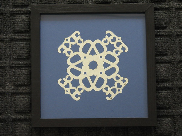 "Title: ""DAD"" - Framed Hand Cut Parchment <br /> Size: 7x7<br /> Price:$29  Plus Tax -S&H<br /> Email Your Order: JanetLynchArt@gmail.com"