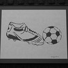 "Title: "" Soccer "" -Framed Hand Cut Parchment <br /> Difficulty: 4 of 10 <br /> Size: 8.5x11<br /> Price: $20 Plus Tax -S&H<br /> Email Your Order: JanetLynchArt@gmail.com"