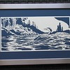 "Title: ""Camping On The Lake (Loon)"" - Framed Hand Cut Parchment <br /> Size: 12x24<br /> Price:$139 Plus Tax -S&H<br /> Email Your Order: JanetLynchArt@gmail.com"