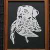 "Title: ""Lab With Duck"" - Framed Hand Cut Parchment <br /> Size: 8.5x11<br /> Price:$45 Plus Tax -S&H<br /> Email Your Order: JanetLynchArt@gmail.com"