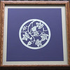 """Title: """"Grapes"""" - Framed Hand Cut Parchment <br /> Size: 14x14<br /> Price:$49 Plus Tax -S&H<br /> Email Your Order: JanetLynchArt@gmail.com"""