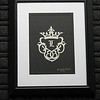 """Title: """"Family Crest"""" - Framed Hand Cut Parchment <br /> Size: 8x10<br /> Price:$25  Plus Tax -S&H<br /> Email Your Order: JanetLynchArt@gmail.com"""
