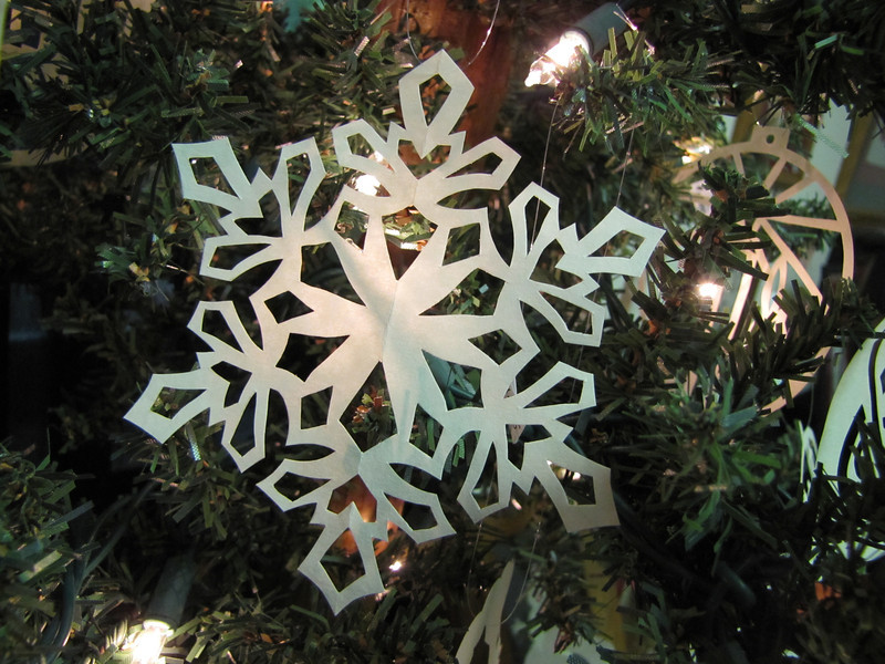 Christmas Ornaments - Scherenschnitte - Hand Paper Cutting Art signed and dated By Janet Lynch    $12.00