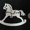 """Title: """"Rocking Horse"""" - Hand Cut Parchment<br /> Price: $6<br /> This item ships free in U.S. and Canada when shipped with an equal or lesser item<br /> <br /> ~ Scherenschnitte (hand paper cutting) Christmas Ornament<br /> Signed and dated by Janet Lynch<br /> <br /> ~ All Christmas ornaments can be personalized with names in Calligraphy<br /> Water Mark will not appear on your art order<br /> <br /> ~Want this as a print on a 5x7 Note Card? <a href=""""http://www.etsy.com/listing/71810088/note-cards-5x7-choose-any-photo-or-paper"""">http://www.etsy.com/listing/71810088/note-cards-5x7-choose-any-photo-or-paper</a><br /> <br /> ~ Want this as a print on a jewelry pendant? <a href=""""http://www.etsy.com/listing/74448914/cape-hatteras-lighthouse-fine-art"""">http://www.etsy.com/listing/74448914/cape-hatteras-lighthouse-fine-art</a><br /> <br /> ~ Special Custom requests welcome.....just email me and I will do my best to work with you. If you have a theme or particular interest I am sure I have a design for you......or I will design one just for you.<br /> <br /> ~Visit our shop to see all my hand cut Scherenschnitte Art, Fine Art Photography, Prints, Christmas Ornaments, Bookmarks, Note Cards, Photo Pendants, Jewelry:<br /> <a href=""""http://artgalleryriverrd.etsy.com"""">http://artgalleryriverrd.etsy.com</a>"""