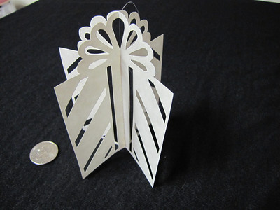 Christmas Decorations - Scherenschnitte - Hand Paper Cutting Art signed and dated By Janet Lynch  Ask a Question $12.00