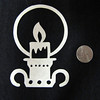 """Title: """"Candle Holder"""" - Hand Cut Parchment<br /> Price: $6<br /> This item ships free in U.S. and Canada when shipped with an equal or lesser item<br /> <br /> ~ Scherenschnitte (hand paper cutting) Christmas Ornament<br /> Signed and dated by Janet Lynch<br /> <br /> ~ All Christmas ornaments can be personalized with names in Calligraphy<br /> Water Mark will not appear on your art order<br /> <br /> ~Want this as a print on a 5x7 Note Card? <a href=""""http://www.etsy.com/listing/71810088/note-cards-5x7-choose-any-photo-or-paper"""">http://www.etsy.com/listing/71810088/note-cards-5x7-choose-any-photo-or-paper</a><br /> <br /> ~ Want this as a print on a jewelry pendant? <a href=""""http://www.etsy.com/listing/74448914/cape-hatteras-lighthouse-fine-art"""">http://www.etsy.com/listing/74448914/cape-hatteras-lighthouse-fine-art</a><br /> <br /> ~ Special Custom requests welcome.....just email me and I will do my best to work with you. If you have a theme or particular interest I am sure I have a design for you......or I will design one just for you.<br /> <br /> ~Visit our shop to see all my hand cut Scherenschnitte Art, Fine Art Photography, Prints, Christmas Ornaments, Bookmarks, Note Cards, Photo Pendants, Jewelry:<br /> <a href=""""http://artgalleryriverrd.etsy.com"""">http://artgalleryriverrd.etsy.com</a>"""
