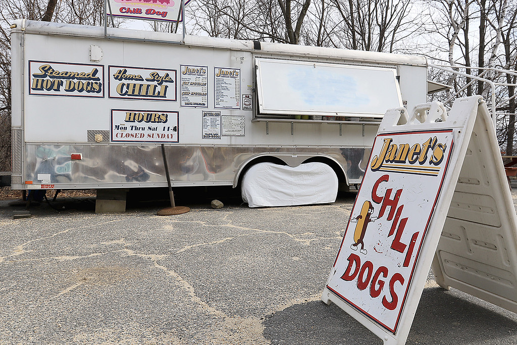 . Janet\'s Chili Dogs in Fitchburg is one of the local seasonal eateries in the North Central MA region. Some of the things they sell at their establishment. SENTINEL & ENTERPRISE/JOHN LOVE