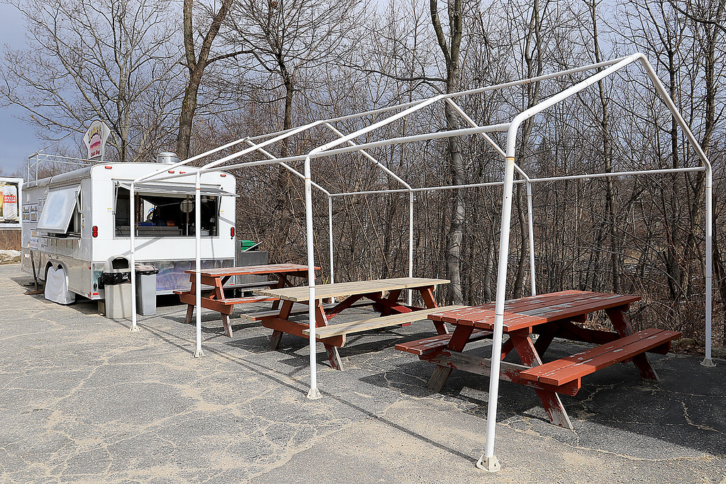 . Janet\'s Chili Dogs in Fitchburg is one of the local seasonal eateries in the North Central MA region. a view of the establishment on Thursday March 21, 2019 with their outdoor seating area. SENTINEL & ENTERPRISE/JOHN LOVE