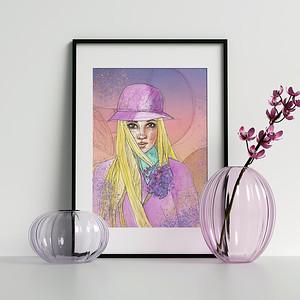 etsy_woman_in_purple_watercolor_illustration_art_janna_coumoundouros_lilacpop