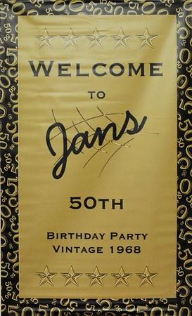 Jan's 50th birthday bash, Saturday 7th April 2018