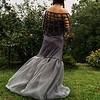 Grey bubble knit back