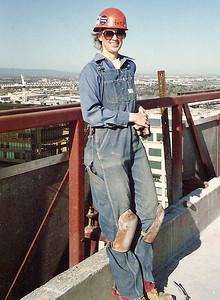 Jan on San Jose roof 1985