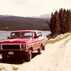 Ole HOSS my 78 Bronco.  Got him when I worked on a new coal mine near Decker, MT.  This was up in the Big Horn mountains above Sheridan, WY the summer of 1980.  I went trout fishing and exploring when I wasn't working 80-100 hours a week!